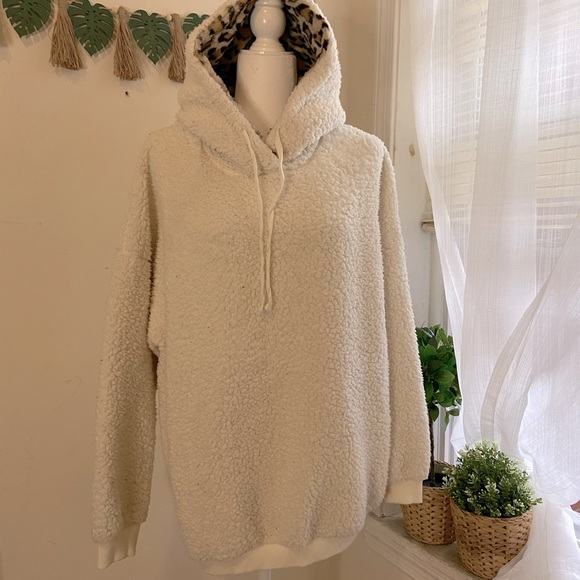 Wild Fable Faux Sherpa Pullover Hoodie